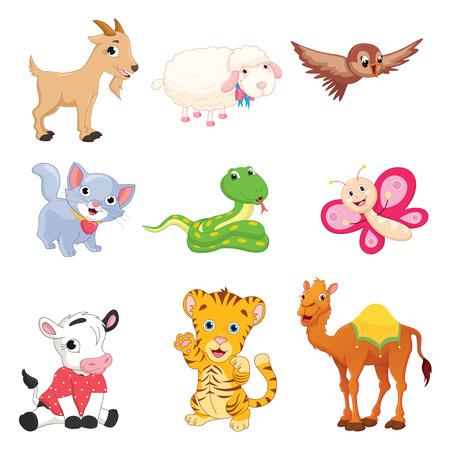 ector Illustration Of Cartoon Animals
