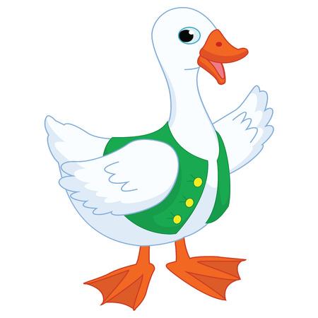 Vector Illustration Of A Cartoon Goose