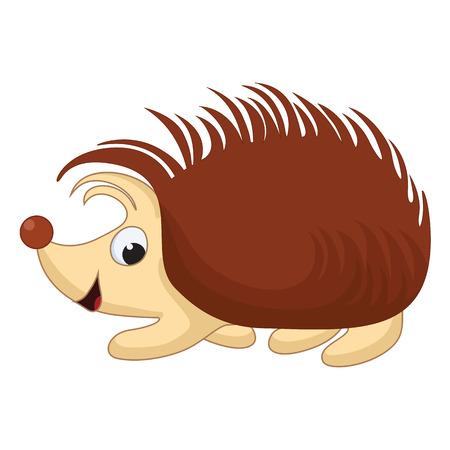 prickle: Vector Illustration of smiling Cartoon Hedgehog Illustration