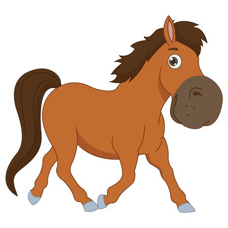nostrils: Vector Illustration Of A Cartoon Horse
