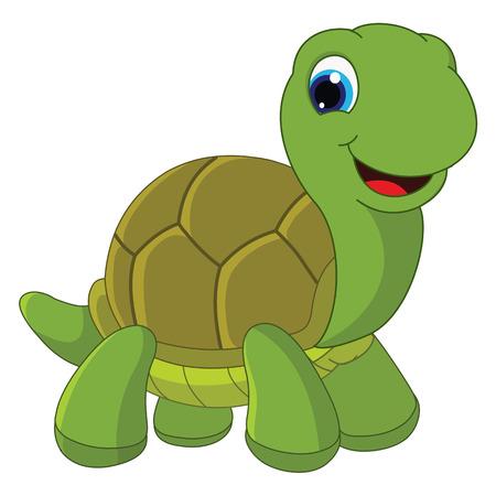 Vector Illustration Of Cartoon Turtle Illustration