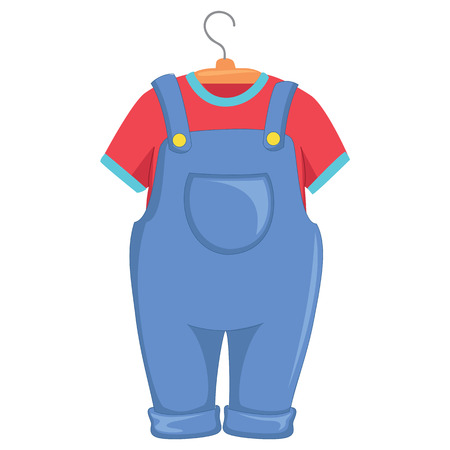 Vector Illustration of Kids Clothes Illustration