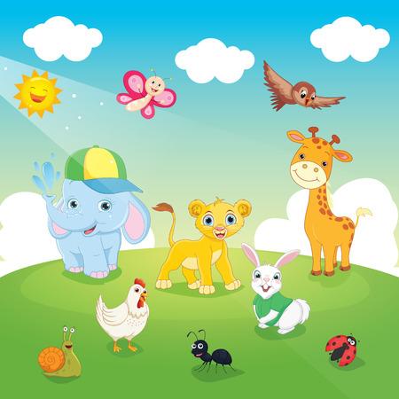 Vector Illustration Of Animals Illustration