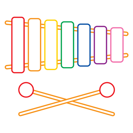paleta de pintor: Ilustración Vectorial De xilófono Vectores