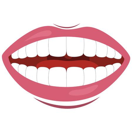 Vector Illustration Of Mouth Vettoriali