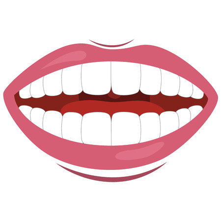 Vector Illustration Of Mouth Illustration