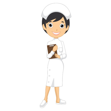 school nurse: Vector Illustration Of A Nurse
