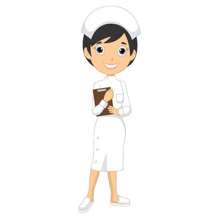 cartoon school: Vector Illustration Of A Nurse