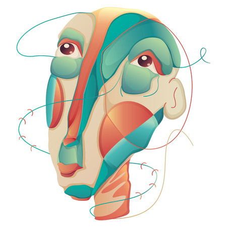Abstract Man Face Illustration