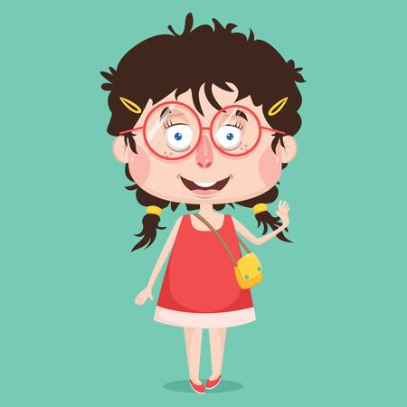 Diseño de personaje abstracto de chica Foto de archivo - 92264138