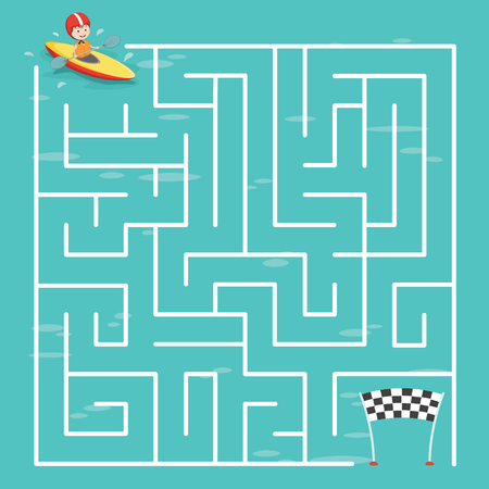 Maze Labyrinth Game,Vector Illustration