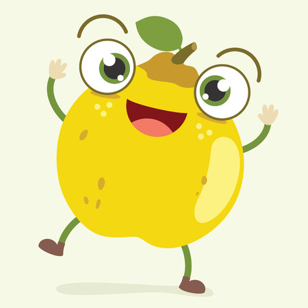 Quince Character Vector Illustration Vettoriali