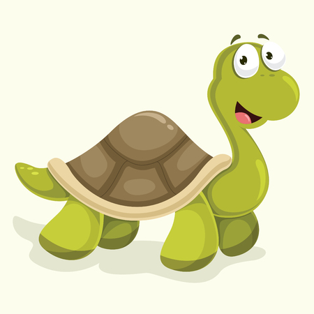 Turtle Vector Illustration isolated on color background. Illustration