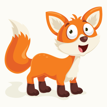 Fox Vector Illustration isolated on color background.