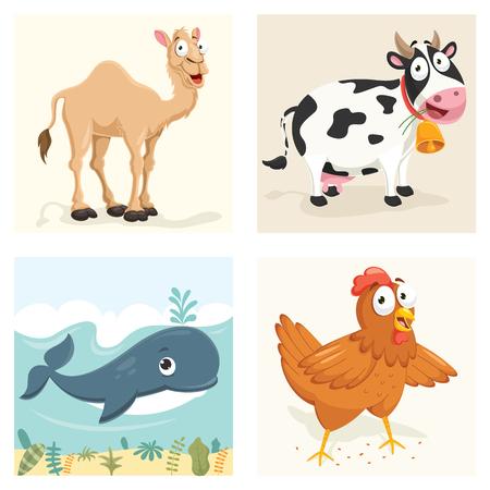 Animals Vector Illustration Set Illustration