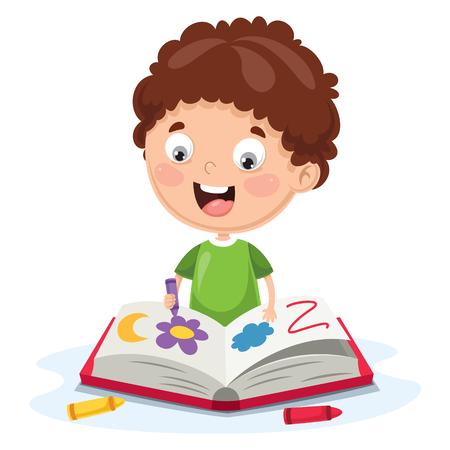 Ilustración vectorial de un libro para colorear para niños Ilustración de vector