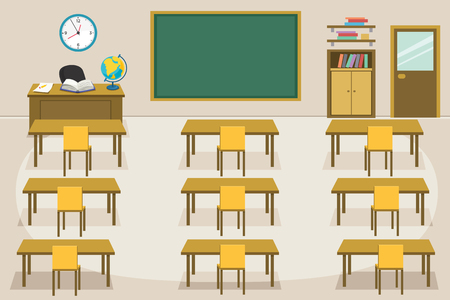 Vector Illustration Of Kids Classroom
