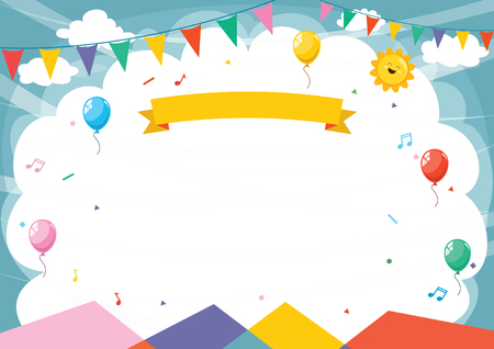 Vector Illustration Of Abstract Background perfect for kids purposes