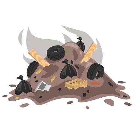 Vector Illustration Of Garbage