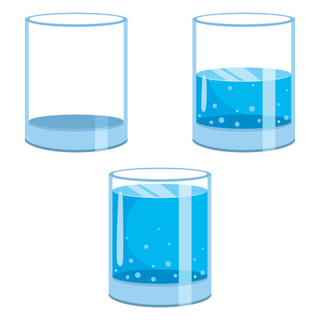 A Vector Illustration Of Water Glasses