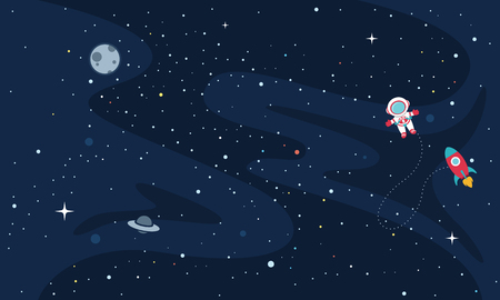 Vector Illustration Of Space exploration 向量圖像
