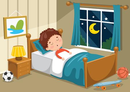 Un'illustrazione di vettore di sonno del bambino Vettoriali