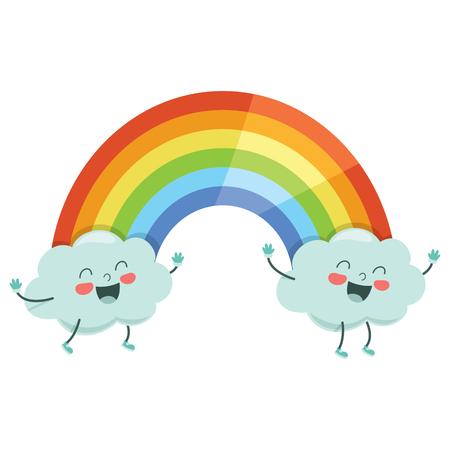 Vector Illustration Of Cartoon Rainbow Illustration