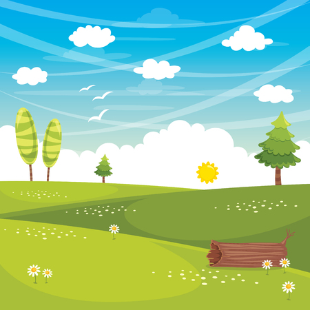 Vector Illustration Of Flat Landscape