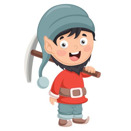 Vector Illustration Of Dwarf  イラスト・ベクター素材