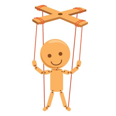 Vektor-Illustration von Cartoon Marionette Standard-Bild - 98943864