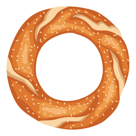 Vector Illustration Of Turkish Bagel