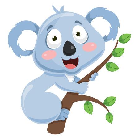 Vector Illustration Of Cartoon Koala Illustration