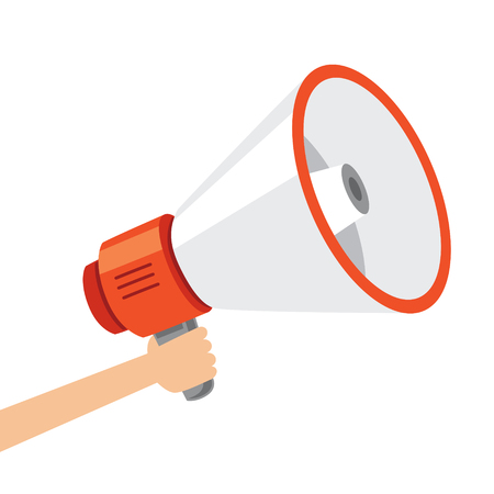 Vector Illustration Of Megaphone