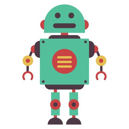 Vector Illustration Of Flat Robot