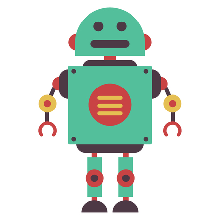 Vector Illustration Of Flat Robot
