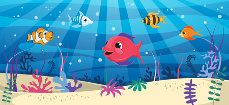 Vector Illustration Of Underwater World