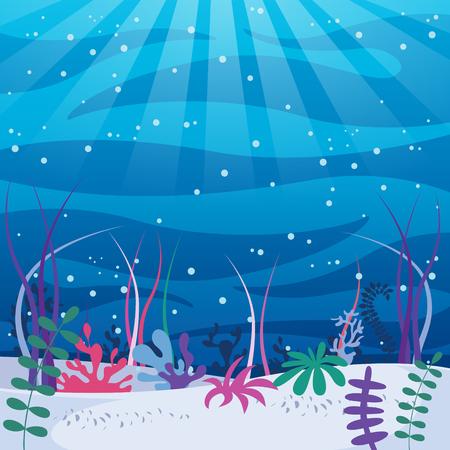 Vector Illustration Of Underwater World Archivio Fotografico - 100618768