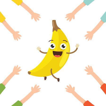 Vector Illustration of Banana Character