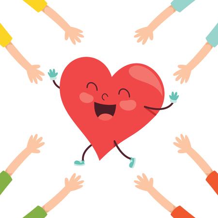 Vector Illustration Of Cartoon Heart