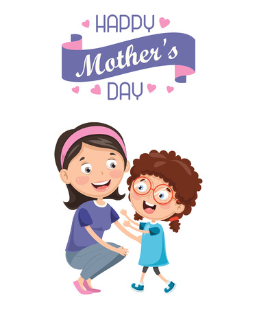 Vector Illustration Of Mother's Day