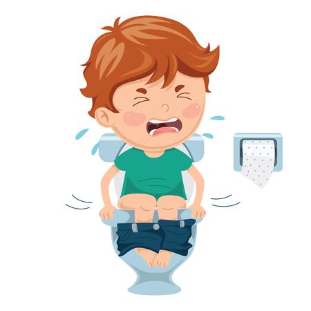 Ilustración vectorial de enfermedades infantiles