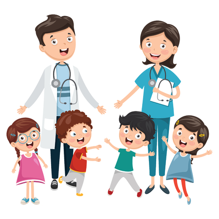 Vector Illustration Of Health Care And Medical