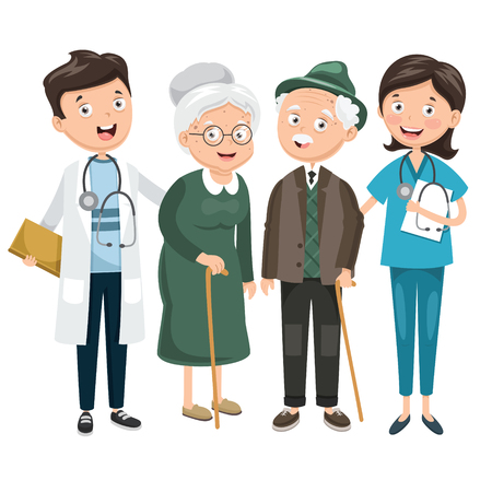 Vector illustration of health care and medical concept