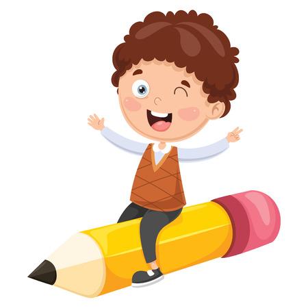 Vector Illustratie Van Onderwijs