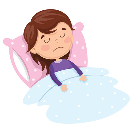 Vector Illustration Of Kid Sleeping Çizim