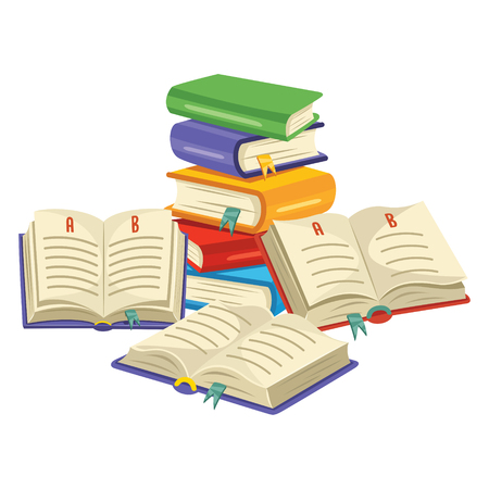 Illustration vectorielle du livre de lecture