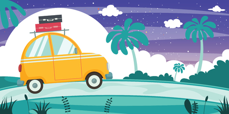 Vector Illustration Of Travelling