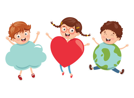 Vector Illustration Of Kids Art