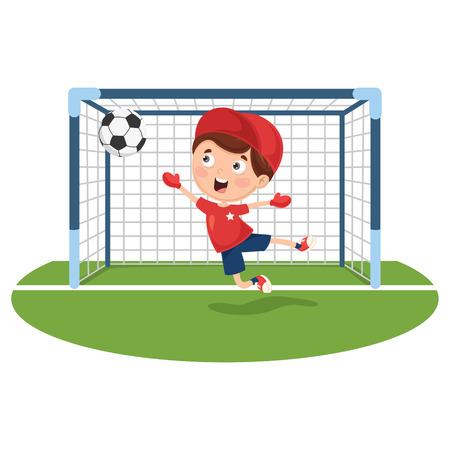 Ilustracja wektorowa gry w piłkę nożną Ilustracje wektorowe