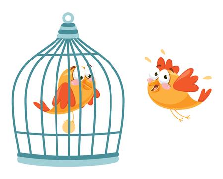 Vektor-Illustration des Vogels Vektorgrafik